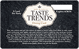 TasteTrends card